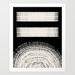 Nordic balck and white abstract Art Print