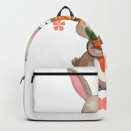 Colorful Bunny Easter Men Womens Kids Gift Backpack