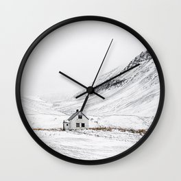 Be Like Snow Wall Clock