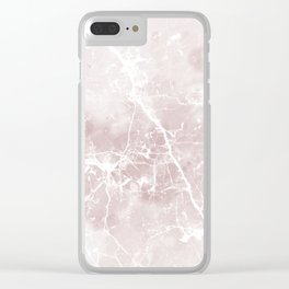 Vintage elegant brown white rustic marble Clear iPhone Case