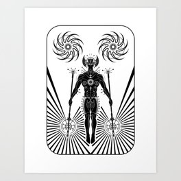 Caretaker of the Galaxy Art Print