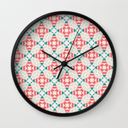 Merry Christmas party pattern Wall Clock