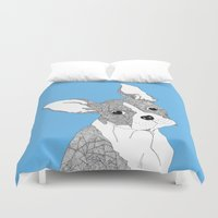 french bulldog Duvet Covers featuring French Bulldog by caseysplace