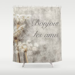 French Country Welcome Shower Curtain