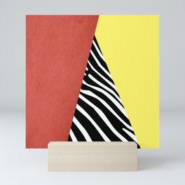 Zebra print geometry Mini Art Print