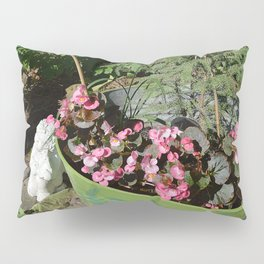 Sun kissed Garden Angel and Begonias Pillow Sham