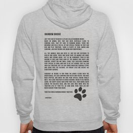 Rainbow Bridge Poem #inspirational #pet #love Hoody