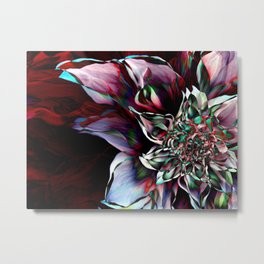 Watercolor Flower Abstract Metal Print