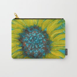 Sunflowers on Turquoise II Carry-All Pouch