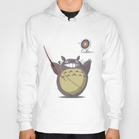 archer Hoodies featuring Totoro Archer by Gianluca Armeni