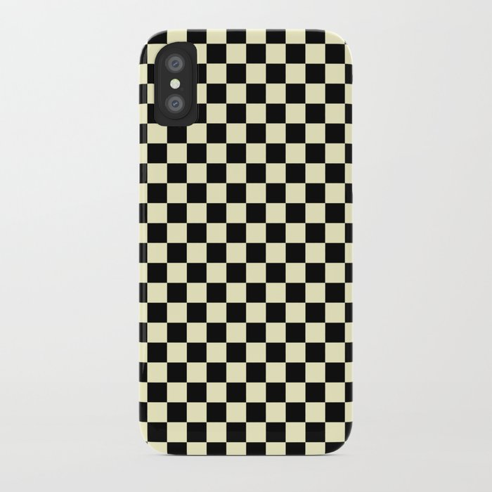 new concept be4a4 11aae Black and Cream Yellow Checkerboard iPhone Case