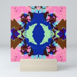 Abstract Pink & Funky Ink Blot Rorschach Butterfly Mini Art Print