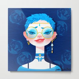 Bitch Please: Sailor Mercury Metal Print
