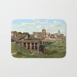 Christoffer Wilhelm Eckersberg View of the Cloaca Maxima, Rome Bath Mat