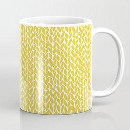 Hand Knit Yellow Coffee Mug