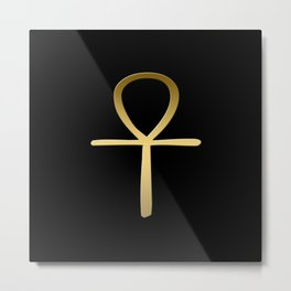 Ankh cross Egyptian symbol Metal Print