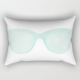 blue sunglasses Rectangular Pillow