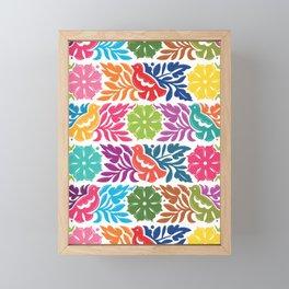 Chiapas Embroidery Framed Mini Art Print