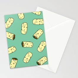 burrito pattern Stationery Cards