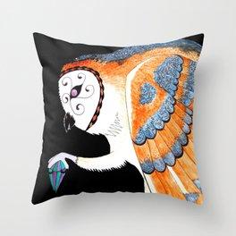 Magic Barn Owl  Throw Pillow