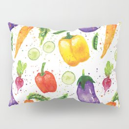 Very Veggie Pattern Pillow Sham