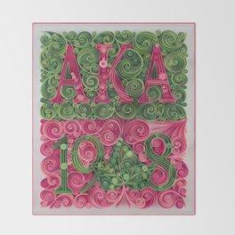 Alpha Kappa Alpha 1908 Throw Blanket