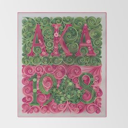 Alpha Kappa Alpha 1908 Throw Blanket