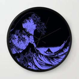 The Great Wave Periwinkle Lavender Wall Clock