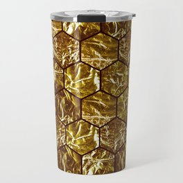 Geometric octagone golden tiles Travel Mug