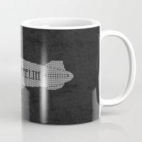 led zeppelin Mugs featuring L.E.D. Zeppelin by jerbing