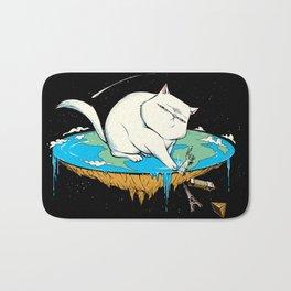 Flat Earth Cat Bath Mat