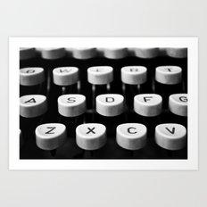 Vintage typewriter 3 Art Print