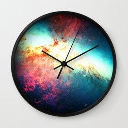 Colorful Galaxy: Messier M82 Wall Clock