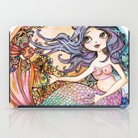 little mermaid iPad Cases featuring Little Mermaid by Lidia Gennari