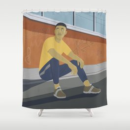 Waiting (for the great leap forwards) Shower Curtain