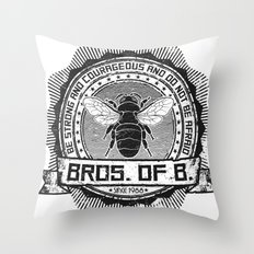 Bros. of B. Light Throw Pillow