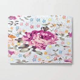 light and dack pink rose Metal Print