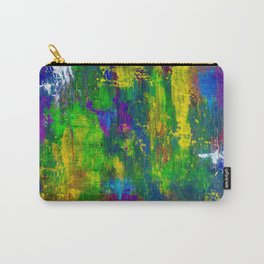 """""""Purple Swamp"""" Abstract Acrylic Painting by Noora Elkoussy Carry-All Pouch"""