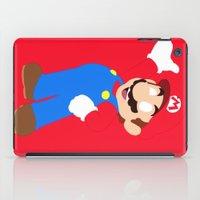 super mario iPad Cases featuring Super Mario by Valiant