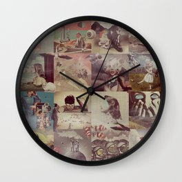 Collage Collage Wall Clock