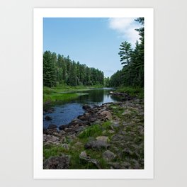 Boundary Waters River Art Print