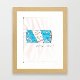 Can of Oxygen Framed Art Print