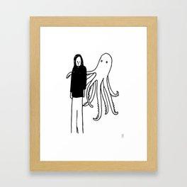 Octopus Hug Framed Art Print