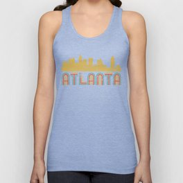 Retro Atlanta Georgia Skyline Unisex Tank Top