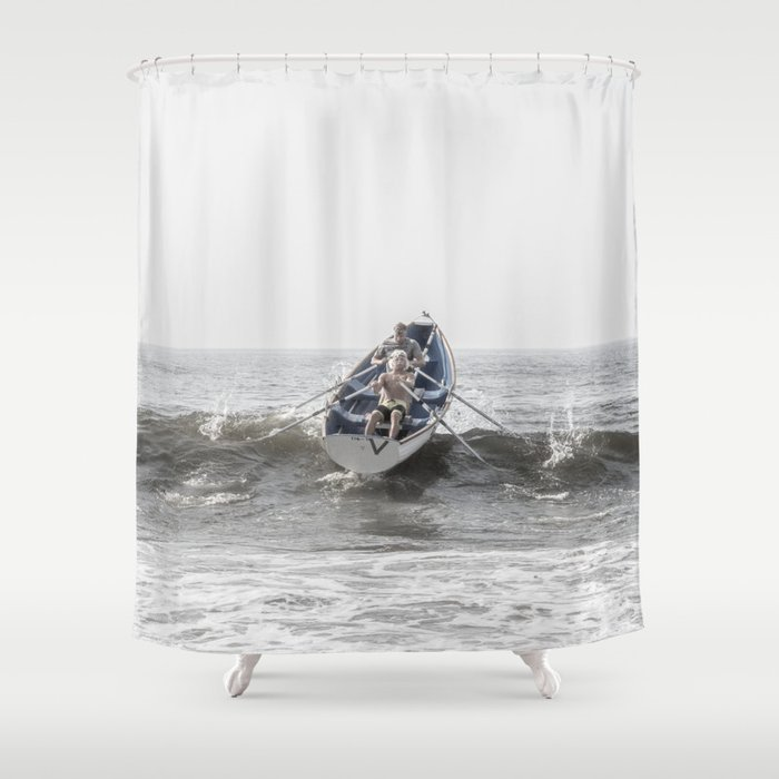 Over The Wave Shower Curtain