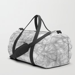 psychedelic drawing and sketching abstract pattern in black and white Duffle Bag