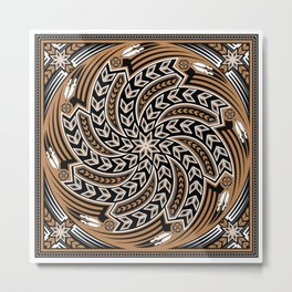 Wind Spirit (Brown) Metal Print