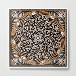 Wind Spirit (Brown) Metal Print