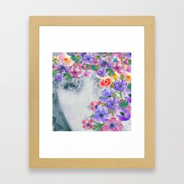 The real flower girl Framed Art Print