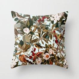 Floral and Birds XXVII Throw Pillow
